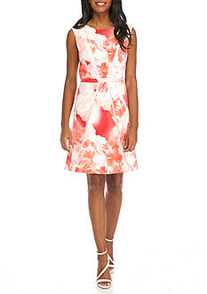 Sandra Darren Floral Fit and Flare Dress