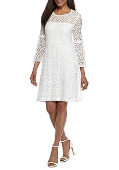 Sandra Darren Lace Bell Sleeve Dress