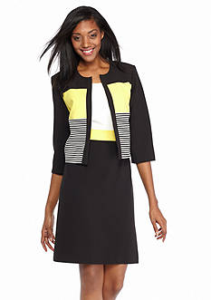 Sandra Darren Colorblock Jacket Dress