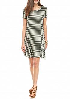 love, Fire Stripe Tee Dress