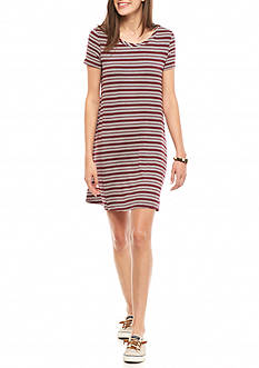 love, Fire Stripe Tee Dress