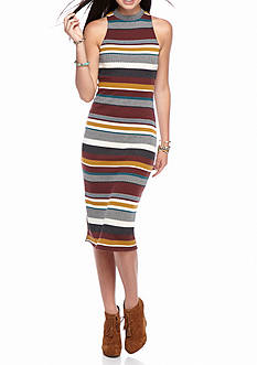 love, Fire Stripe Midi Dress