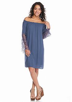 Solid Off The Shoulder Dress
