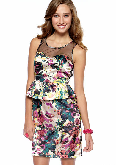 love Peplum Floral Dress