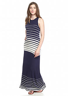 Fire Striped Knit Maxi Dress