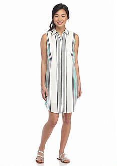 love, Fire love, FIRE Stripe Shirt Dress