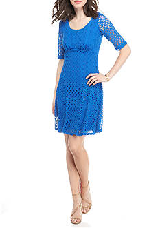 Chris McLaughlin Crochet Empire Waist Dress