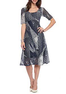 Chris McLaughlin Multi Print Empire Waist Dress