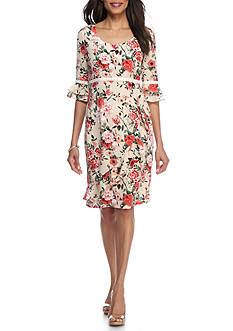 Chris McLaughlin Floral High Waist Dress