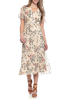 Rabbit Rabbit Rabbit Sheer Midi Dress