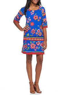 Chris McLaughlin Floral Printed Shift Dress
