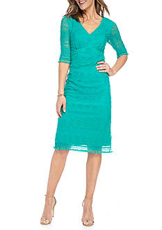 Chris McLaughlin Empire-Waist Lace Dress