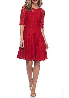 Chris McLaughlin Lace Fit and Flare Dress