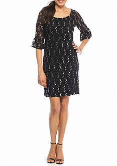 Rabbit Rabbit Rabbit Sequin and Lace Shift Dress