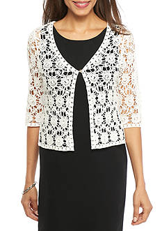 Chris McLaughlin Allover Lace Topper Sweater