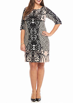 Chris McLaughlin Plus Size Printed Sheath Dress