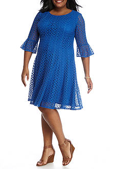 Chris McLaughlin Plus Size Crochet Fit and Flare Dress