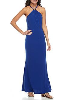 Calvin Klein Jersey Halter Maxi Dress