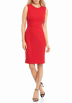 Calvin Klein Sleeveless Crepe Sheath Dress