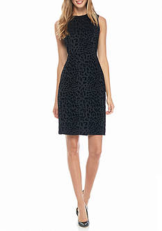 Calvin Klein Animal Printed Sheath Dress