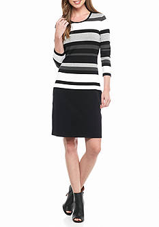 Calvin Klein Striped Sweater Dress