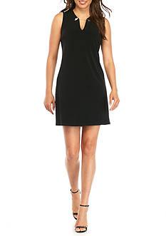 Calvin Klein V-Neck Jersey Trapeze Dress