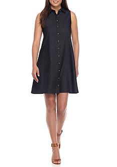 Calvin Klein Chambray Shirt Dress