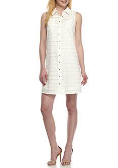 Calvin Klein Textured Shirt Dress