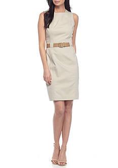 Calvin Klein Structured Belted Dress