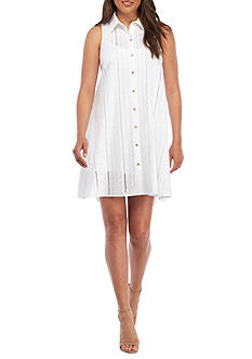 Calvin Klein Eyelet Shirt Dress