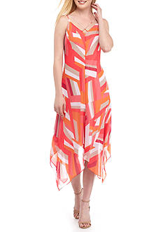 Calvin Klein Printed Chiffon Slip Dress