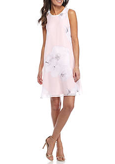 Calvin Klein Faded Floral Trapeze Dress