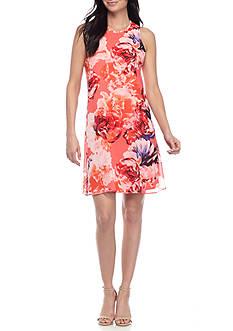 Calvin Klein Sleeveless Floral Swing Dress