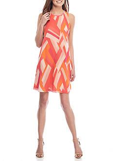 Calvin Klein GEO Printed Swing Dress