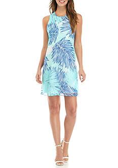 Calvin Klein Printed Trapeze Dress