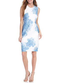 Calvin Klein Single Flower Sheath Dress