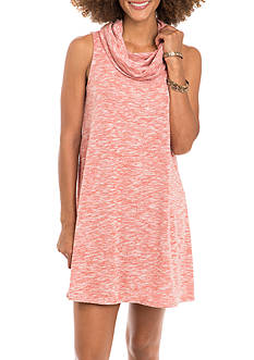 Eyeshadow Marled Knit Cowl Neck Dress
