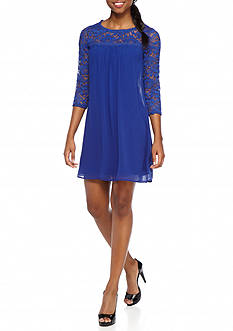 As U Wish Lace Sweetheart shift Dress