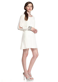 As U Wish Jewel Cuff Shift Dress
