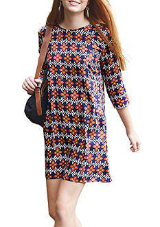 As U  Wish Printed Swing Dress