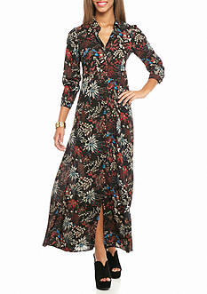 As U  Wish Button Front Long Maxi Dress