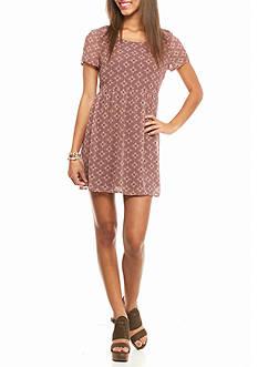 As U  Wish Baby Doll Printed Dress