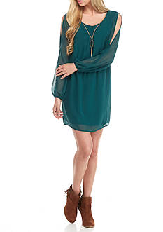 Secret Charm Neck Lace Shift Dress