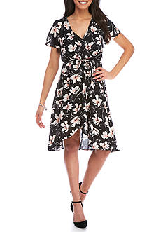 As U Wish Floral Wrap Dress