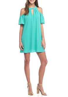 As U Wish Solid Cold Shoulder Gigi Dress