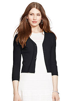 Lauren Ralph Lauren Cotton V-Neck Shrug