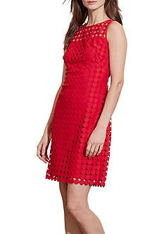 Lauren Ralph Lauren Geometric-Lace Dress