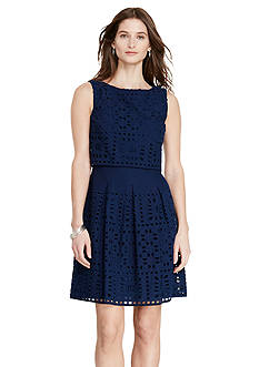 Lauren Ralph Lauren Cotton Eyelet Dress