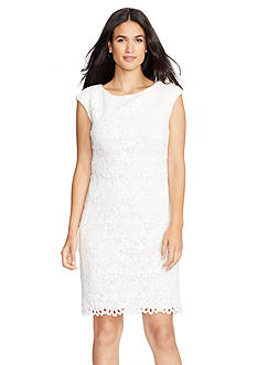 Lauren Ralph Lauren Lace Boat-Neck Dress