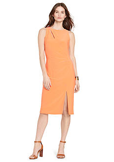Lauren Ralph Lauren Cutout Jersey Sheath Dress